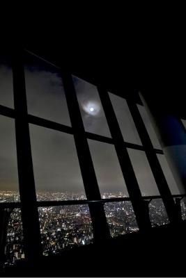天望デッキから望む月 (267x400)