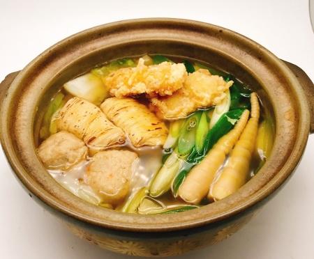 鱧と京湯葉の鍋(酒馳走こころ) (450x372)