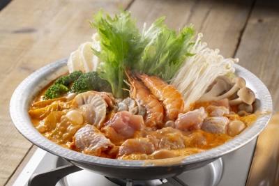 【北海道】海鮮トマトクリーム鍋 (400x267)